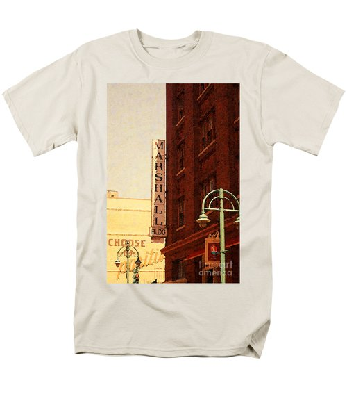 Marshall Bldg Men's T-Shirt  (Regular Fit) by David Blank