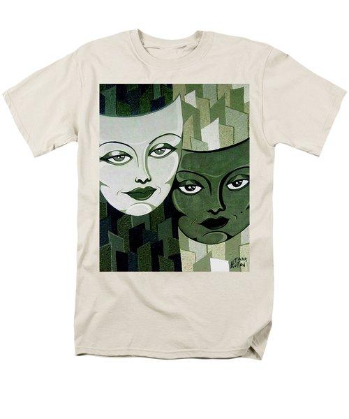 Masks Verde Men's T-Shirt  (Regular Fit) by Tara Hutton