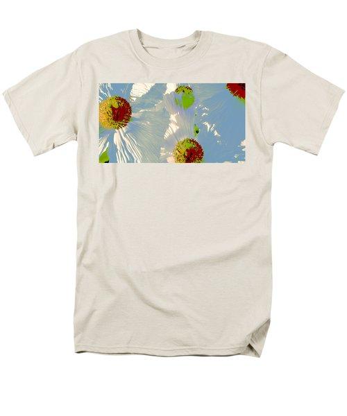 Matilija Poppies Pop Art Men's T-Shirt  (Regular Fit) by Ben and Raisa Gertsberg