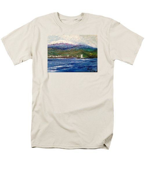 Mauna Kea At Hilo Bay Men's T-Shirt  (Regular Fit)