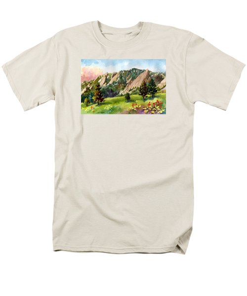 Men's T-Shirt  (Regular Fit) featuring the painting Meadow At Chautauqua by Anne Gifford