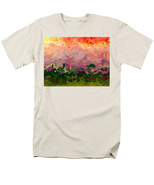 Men's T-Shirt  (Regular Fit) featuring the digital art Meadow Morning by Wendy J St Christopher