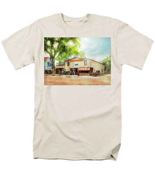 Men's T-Shirt  (Regular Fit) featuring the photograph Mechanic - All Cars Finely Tuned 1920 by Mike Savad