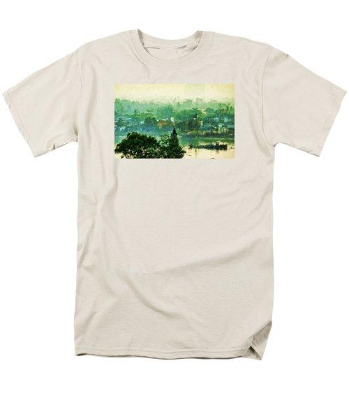 Men's T-Shirt  (Regular Fit) featuring the digital art Mekong Morning by Cameron Wood