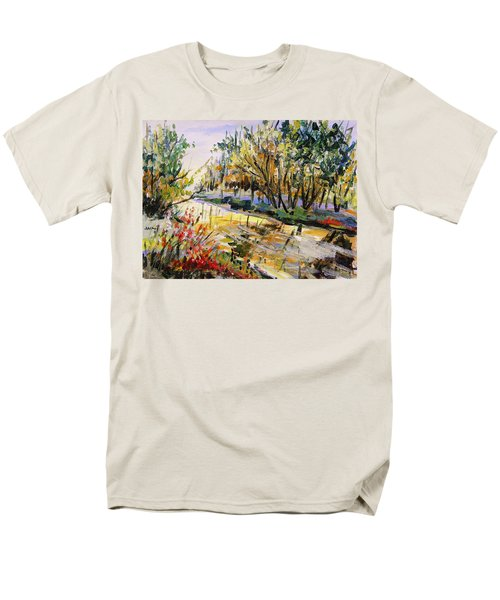 Men's T-Shirt  (Regular Fit) featuring the painting Mid-morning Light by John Williams