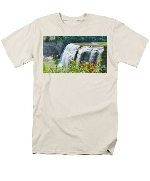Men's T-Shirt  (Regular Fit) featuring the photograph Mini Falls by Raymond Earley