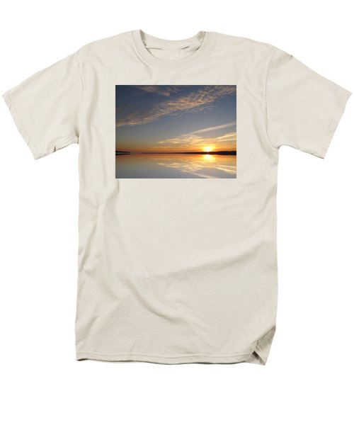 Men's T-Shirt  (Regular Fit) featuring the photograph Mirror Lake Sunrise  by Lyle Crump