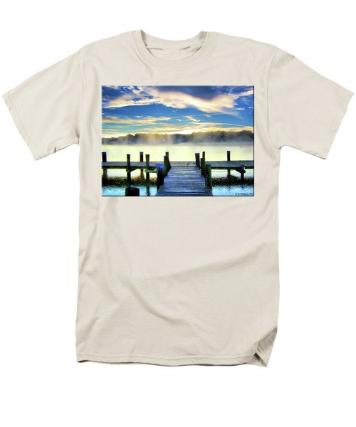 Men's T-Shirt  (Regular Fit) featuring the photograph Misty Morning On Rock Creek by Brian Wallace