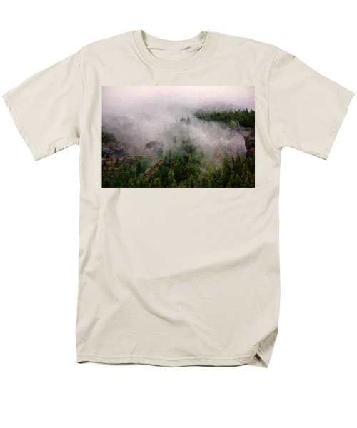 Misty Pines Men's T-Shirt  (Regular Fit) by Lana Trussell