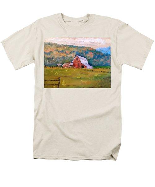 Montana Barn Men's T-Shirt  (Regular Fit) by Larry Hamilton