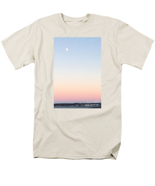 Moon In Twilight Sky Men's T-Shirt  (Regular Fit) by Patricia E Sundik