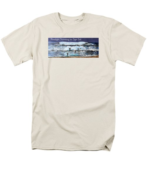 Moonlight Swimming On Cape Cod Men's T-Shirt  (Regular Fit) by Rita Brown