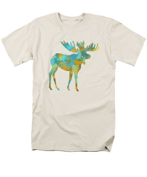 Moose Watercolor Art Men's T-Shirt  (Regular Fit) by Christina Rollo