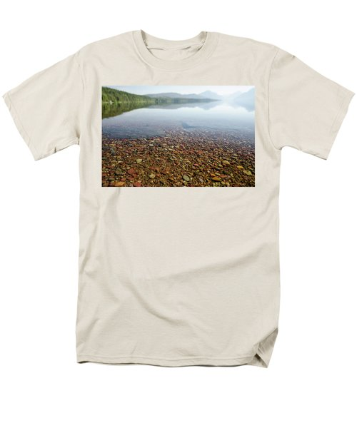 Morning At Lake Mcdonald Men's T-Shirt  (Regular Fit)