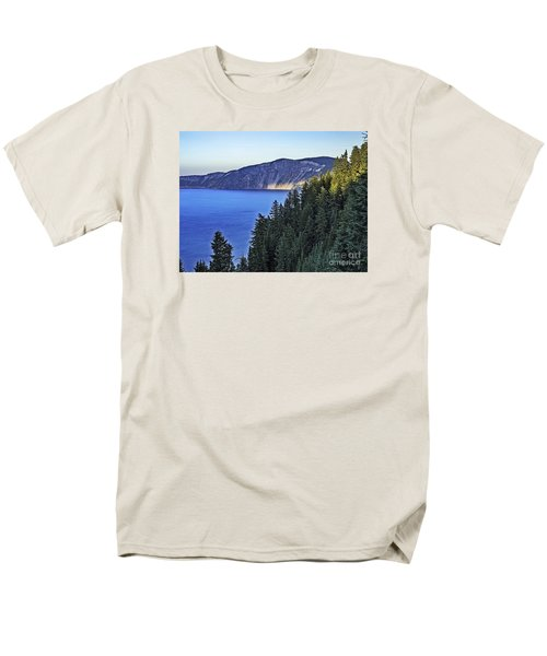 Morning Light At Crater Lake, Oregon Men's T-Shirt  (Regular Fit) by Nancy Marie Ricketts
