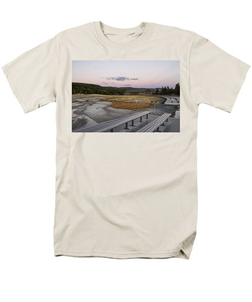Morning Light At Old Faithful Men's T-Shirt  (Regular Fit) by Shirley Mitchell