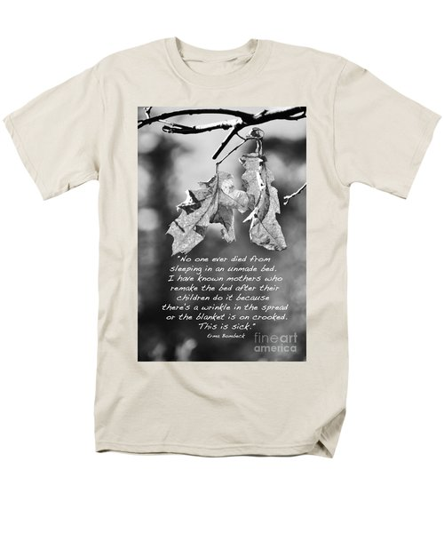 Men's T-Shirt  (Regular Fit) featuring the photograph Mother's Day Saying by Debby Pueschel