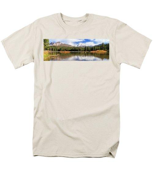 Men's T-Shirt  (Regular Fit) featuring the photograph Mount Lassen Autumn Panorama by James Eddy