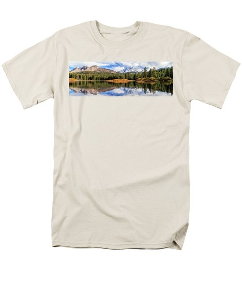 Mount Lassen Reflections Panorama Men's T-Shirt  (Regular Fit) by James Eddy
