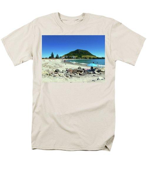 Men's T-Shirt  (Regular Fit) featuring the photograph Mount Maunganui Beach 1 - Tauranga New Zealand by Selena Boron