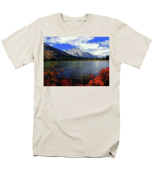 Men's T-Shirt  (Regular Fit) featuring the photograph Mount Moran In The Fall by Raymond Salani III