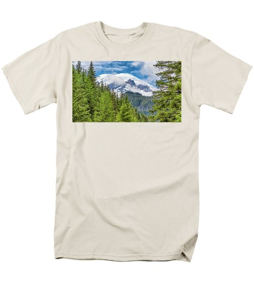 Men's T-Shirt  (Regular Fit) featuring the photograph Mount Rainier View by Stephen Stookey