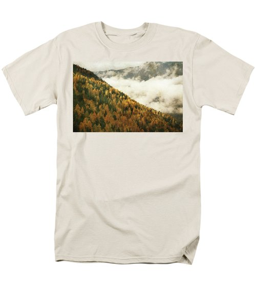 Mountain Landscape Men's T-Shirt  (Regular Fit) by Vittorio Chiampan