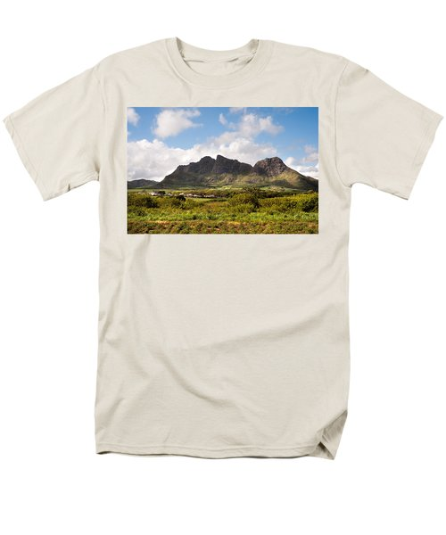 Men's T-Shirt  (Regular Fit) featuring the photograph Mountain Range In Mauritius by Jenny Rainbow