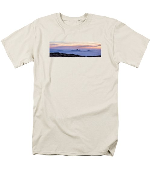 Men's T-Shirt  (Regular Fit) featuring the photograph Mountains And Mist by Marion McCristall