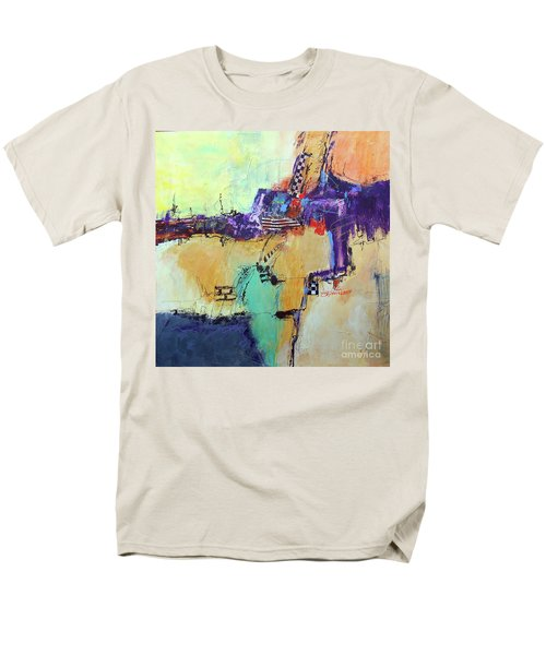 Men's T-Shirt  (Regular Fit) featuring the painting Movin' Left by Ron Stephens