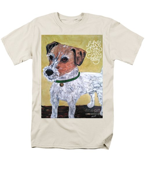 Men's T-Shirt  (Regular Fit) featuring the painting Mr. R. Terrier by Reina Resto