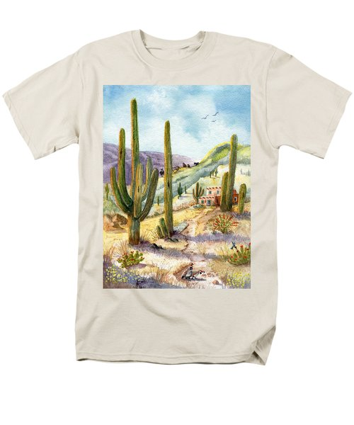 Men's T-Shirt  (Regular Fit) featuring the painting My Adobe Hacienda by Marilyn Smith