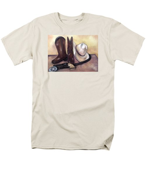My Cowboy's Home Men's T-Shirt  (Regular Fit) by Annamarie Sidella-Felts