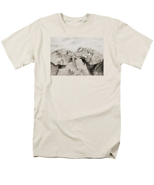 Men's T-Shirt  (Regular Fit) featuring the drawing My Dad Is Bigger Than Your Dad by John Stuart Webbstock