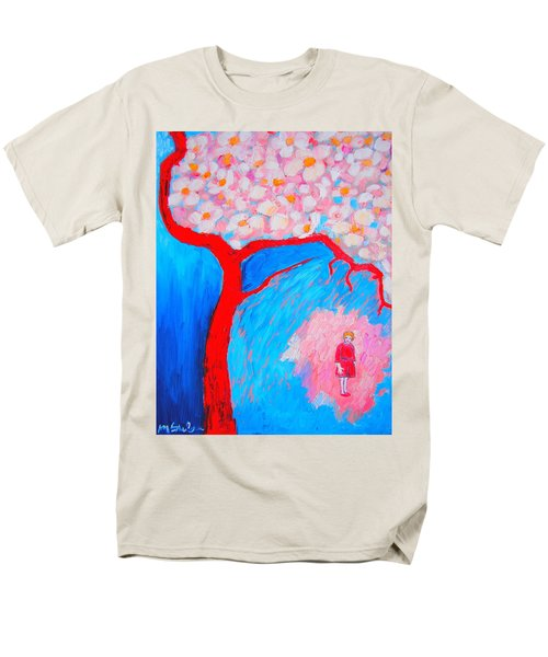 Men's T-Shirt  (Regular Fit) featuring the painting My Spring by Ana Maria Edulescu