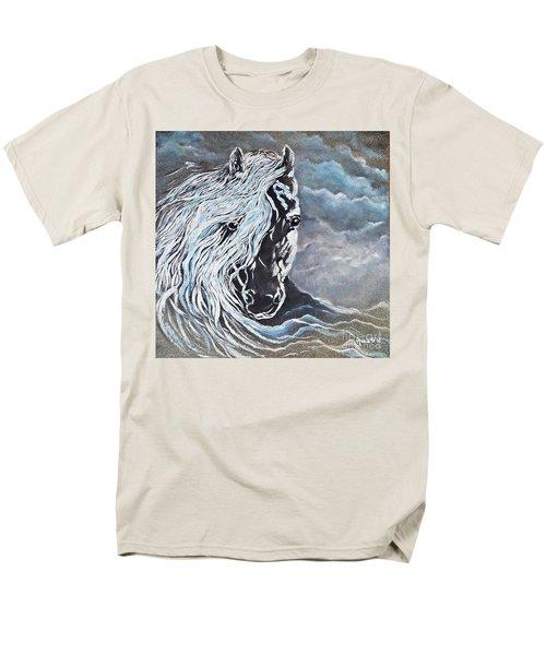 My White Dream Horse Men's T-Shirt  (Regular Fit) by AmaS Art