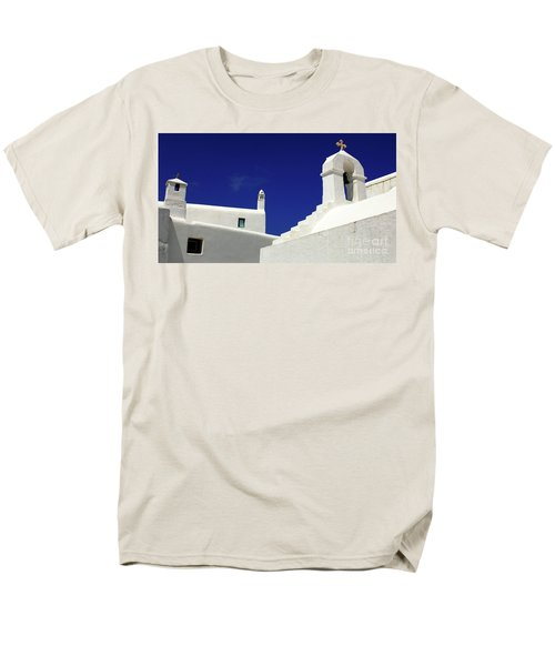 Mykonos Greece Architectual Line 5 Men's T-Shirt  (Regular Fit) by Bob Christopher