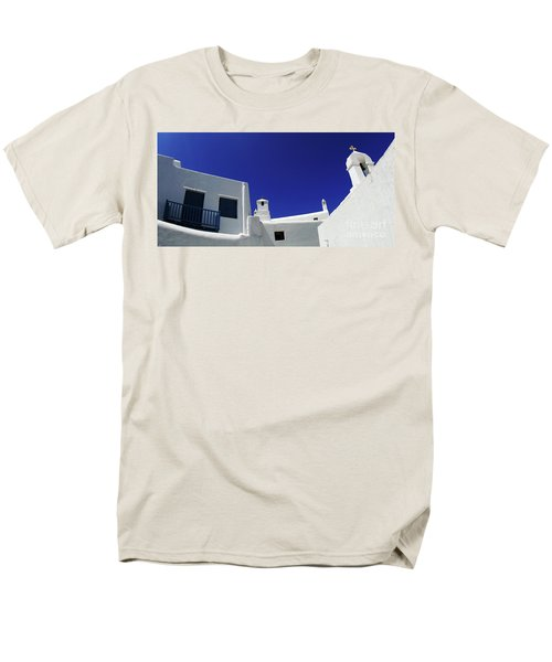 Mykonos Greece Clean Line Architecture Men's T-Shirt  (Regular Fit) by Bob Christopher