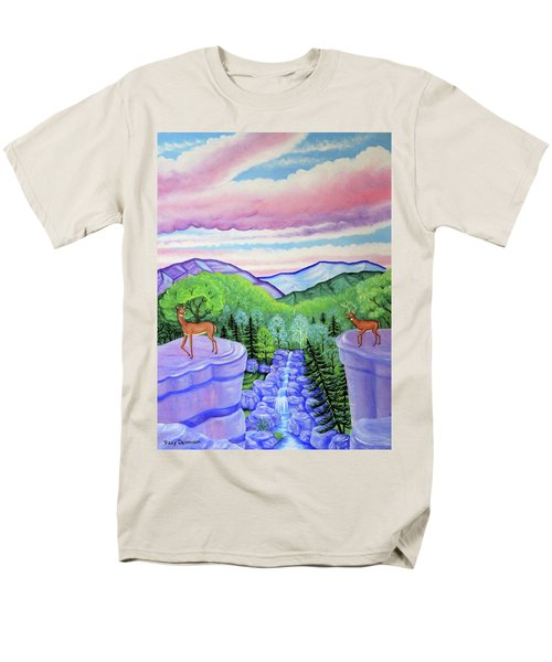 Mystic Mountain Men's T-Shirt  (Regular Fit) by Tracy Dennison