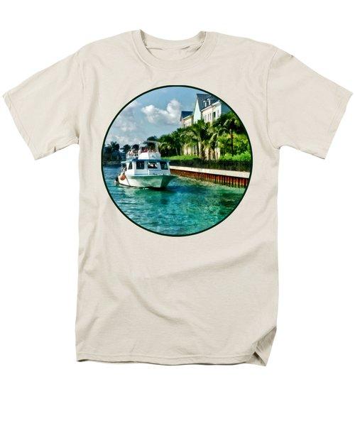 Bahamas - Ferry To Paradise Island Men's T-Shirt  (Regular Fit) by Susan Savad