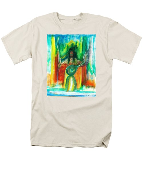 Men's T-Shirt  (Regular Fit) featuring the painting Native Awakenings by Kicking Bear  Productions