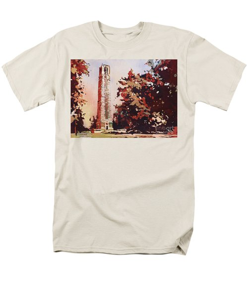 Men's T-Shirt  (Regular Fit) featuring the painting Ncsu Bell-tower II by Ryan Fox