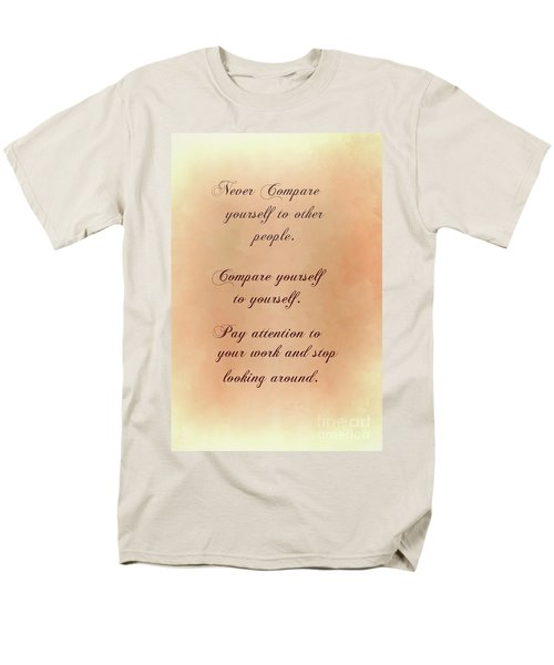 Men's T-Shirt  (Regular Fit) featuring the digital art Never by Jim  Hatch