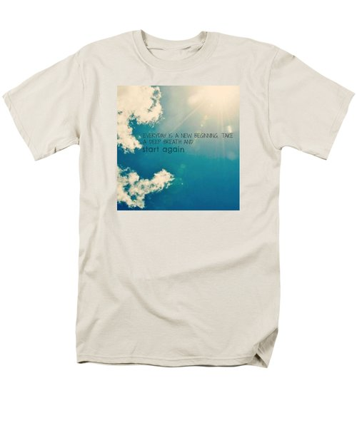 Men's T-Shirt  (Regular Fit) featuring the photograph New Beginning by Artists With Autism Inc