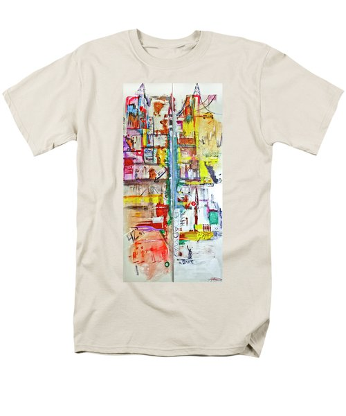 New York City Icons And Symbols Men's T-Shirt  (Regular Fit)