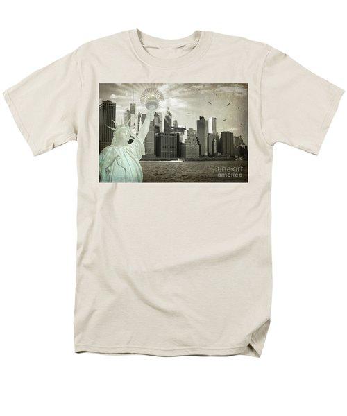 New York New York Da Men's T-Shirt  (Regular Fit) by Judy Wolinsky