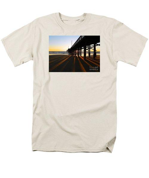 Men's T-Shirt  (Regular Fit) featuring the photograph Newport Pier, Newport Beach   by Everette McMahan jr