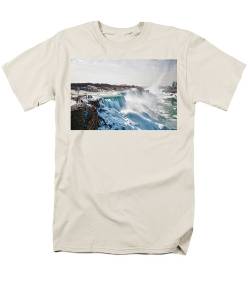 Men's T-Shirt  (Regular Fit) featuring the photograph Niagara Falls 4589 by Guy Whiteley