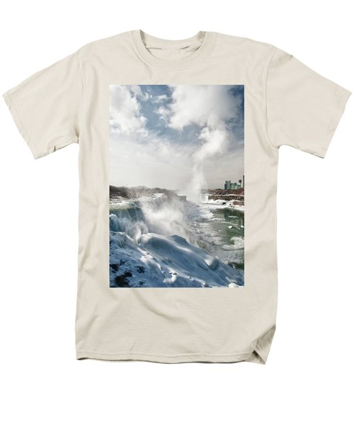 Men's T-Shirt  (Regular Fit) featuring the photograph Niagara Falls 4601 by Guy Whiteley