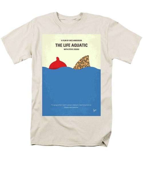 Men's T-Shirt  (Regular Fit) featuring the digital art No774 My The Life Aquatic With Steve Zissou Minimal Movie Poster by Chungkong Art